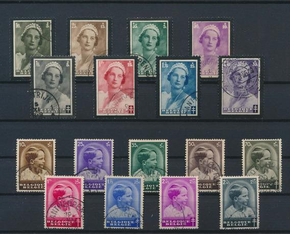 Belgica 1935 Astrid Y Niños Anti-tuberculosis Usado 20.5 Eur