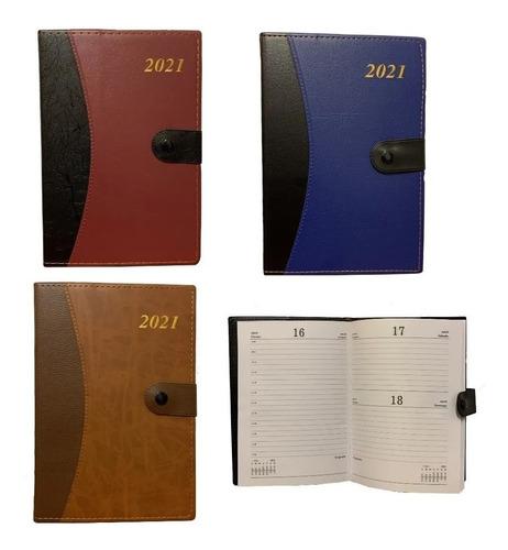 Agenda 2021 Varios Colores Tapa Dura Con Broche