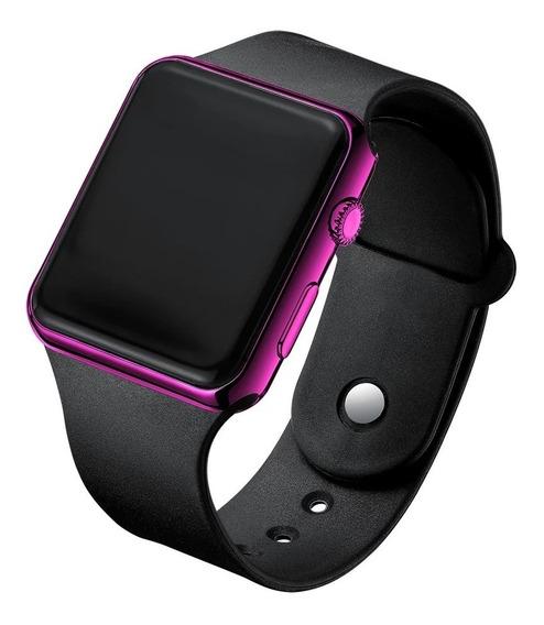 Relógio De Pulso Digital Led Masculino Feminino Rosa