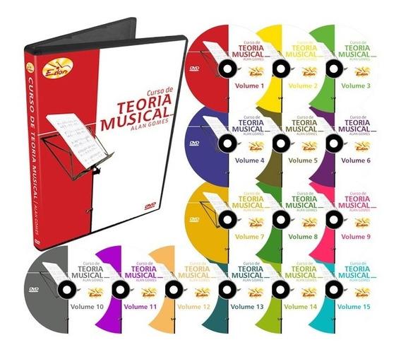 Coleção Curso De Teoria Musical 15 Dvds - Edon- Original
