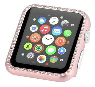Capa Strass Bumper Aço Protetor Apple Watch 38 40 42 44mm