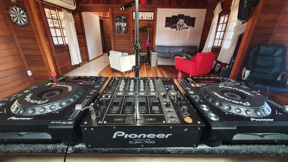 Kit Cdj Pioneer - Par Cdj-850 + Mixer Djm-700 + Hard Case