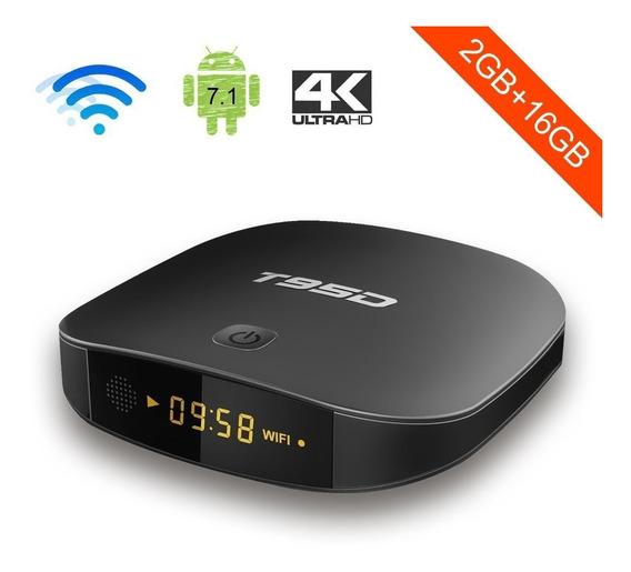 Tv Box T95d Smarttv 4k 2gb Ram 16gb Wifi Bt Hdmi Android 7
