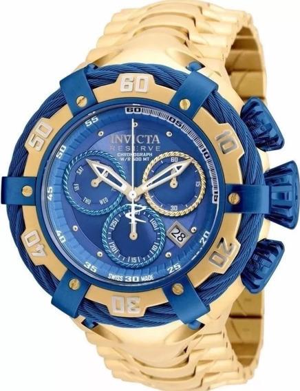 Relógio Pa199 Invicta 21361 Thunderbolt Original Azul / Gold