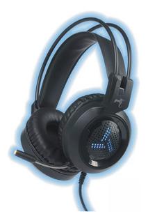 Auricular C/ Microfono Gamer Pc Gaming 2 Plug Luz Led
