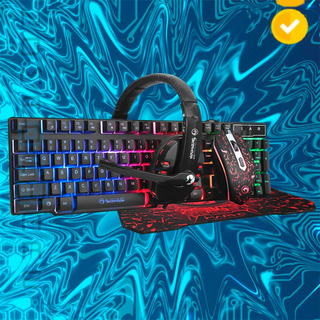 Nw Kit Perifericos Gamer Cm370 Marvo Scorpion Retroiluminado