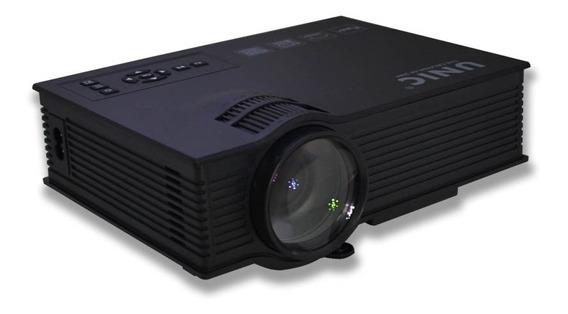 Mini Projetor Uc40 Portatil Led 130pol 1080p 800 Lumens Hdmi
