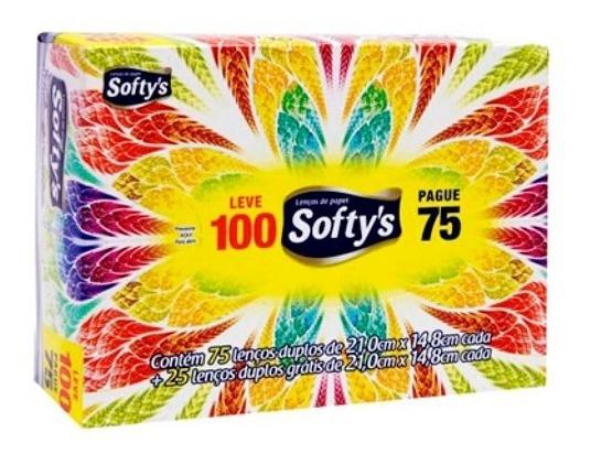 Lenços De Papel Elite Softys Com 100 Unidades