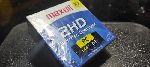 Imagen 1 de 4 de Diskette 1.44 Mb 2 Hd Maxell Pc Computadora Caja X 10 Sellad