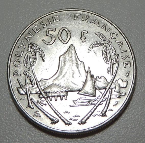 Moneda Polinesia Francesa 50 Francos 1982 Km#13 Morea