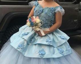 Vestido De Xv Azul Hermoso