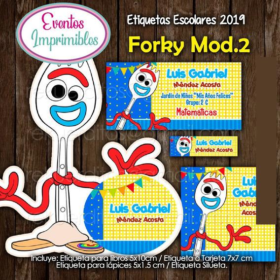 Etiquetas Escolares Forky 2019 Toy Story