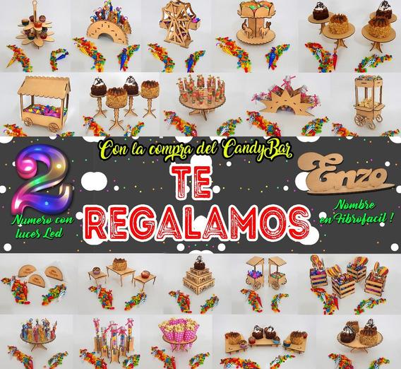 Candy Bar 43 Producto Numero Led Y Nombre Regalo