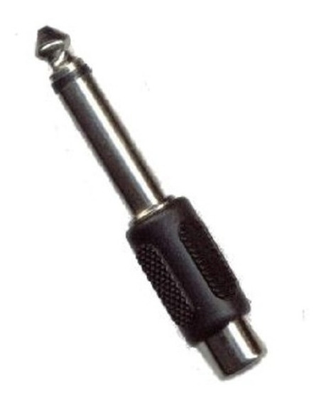 Adaptador Plug Jack 6.3 Mm Macho Mono A Rca Hembra Dj