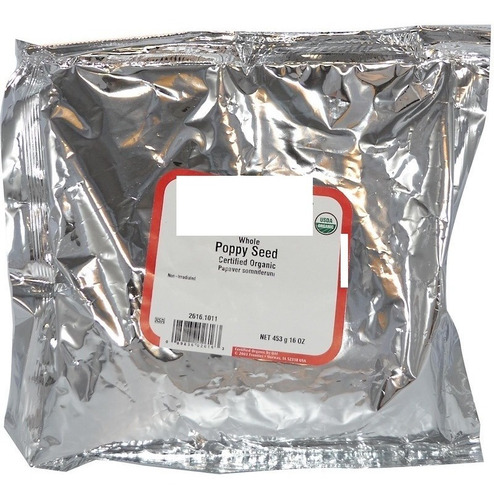 450g Semente De Papoula Organica - Certificado Usda