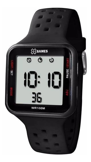 Relógio Masculino Quadrado Digital Preto Xgames Esportivo
