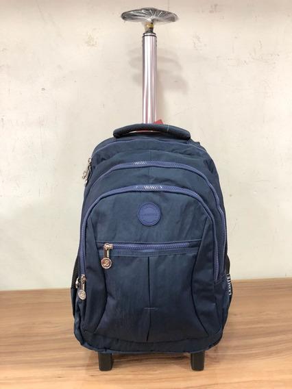 Mochila Executiva Notebook Laptop Com Rodinhas-12x Sem Juros
