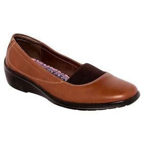 Zapatos Confort Flats Ve Tabaco Dama Piel Cafe 27848 Dtt