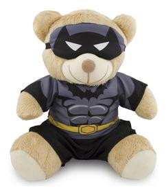 Ursinho Super Herói Fantasia Batman 20cm