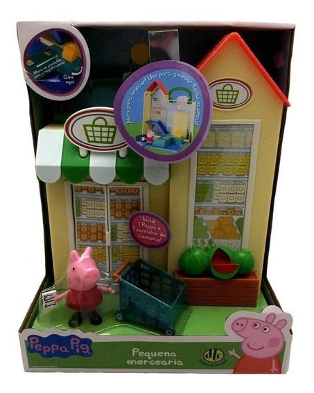 Conjunto Playset Peppa Pig Pequena Mercearia Dtc Original
