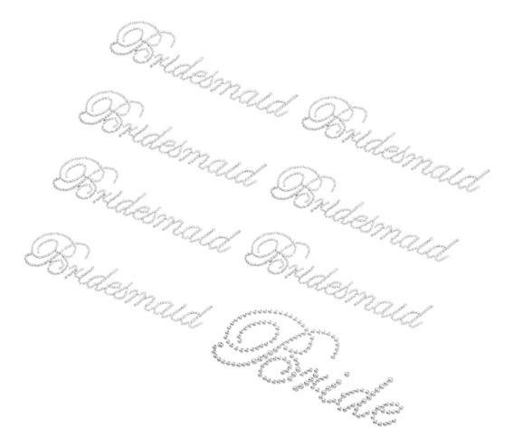 8 / Set Stickers Claras Da Dama De Honra Noiva Imitação De