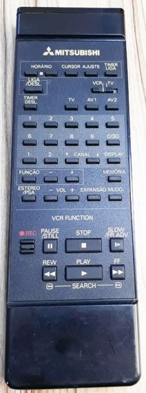 Controle Remoto Mitsubishi Tv/vcr ( T E S T A D O) Original