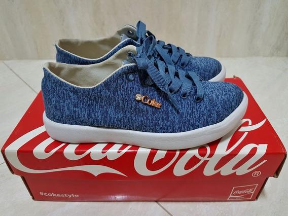 Tênis Coca-cola Luxor Mescla Denin