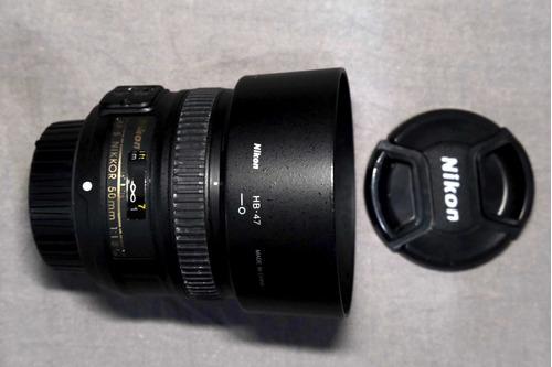 Lente Nikon Af-s Nikkor 50mm F/1.8g Com Autofoco