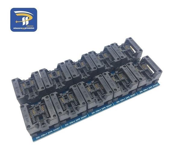 Sockte Adaptador Eprom Soic8 Sop8 Sop 200 209 209mil Ch341a