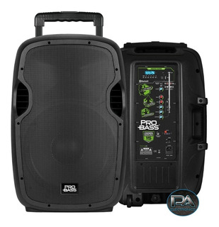 Bafle Potenciado Pro Bass Underground 15 Usb Sd Bt Portatil