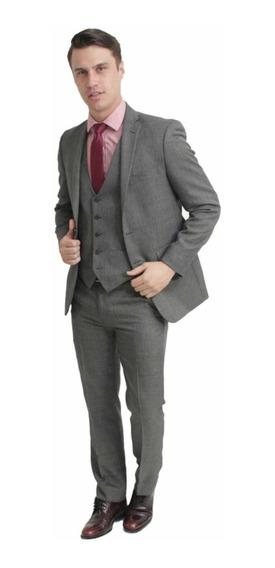 Traje Excelente Calidad Vittorio Forti Slim Fit 34r Original
