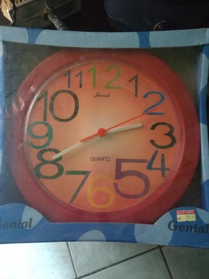Relógio Parede Redondo Genial 23 Cm, Quartz, 1 Pilha Aa