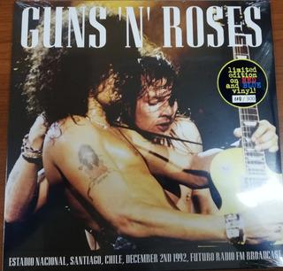 Vinilo Guns N Roses Chile 1992 Vinilo Color Edición Especial