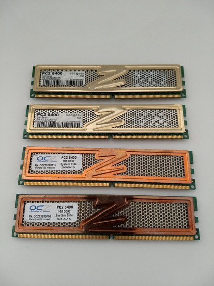 Memoria Ram Ocz Ddr2 Pc2 6400 1gb Gold Series *promo X Lote*