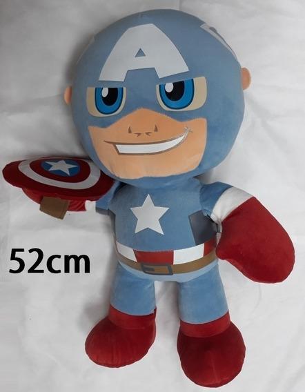 Capitão América Pelúcia Grande 52cm Ótimo Presente Crianças