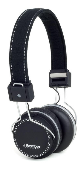 Fone De Ouvido Bomber Quake Hb02 Black On Ear Preto