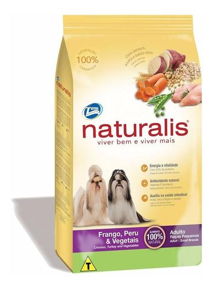 Ração Naturalis Cães Adultos Rç Pq Frango Peru Vegetais 15kg