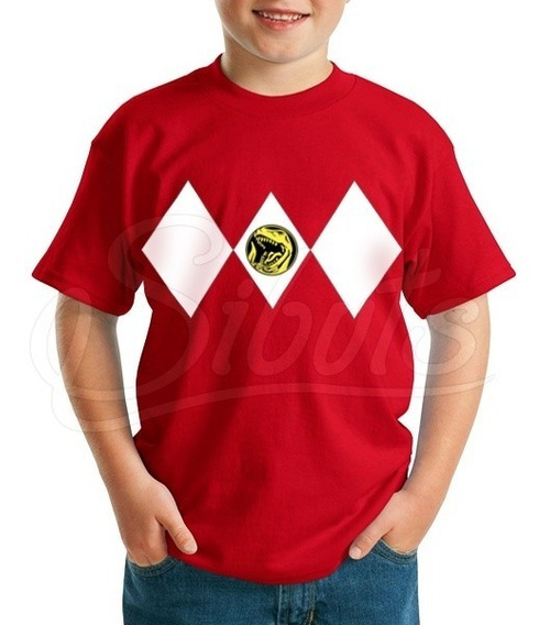 Playera Para Niño Power Ranger Red Varias Tallas