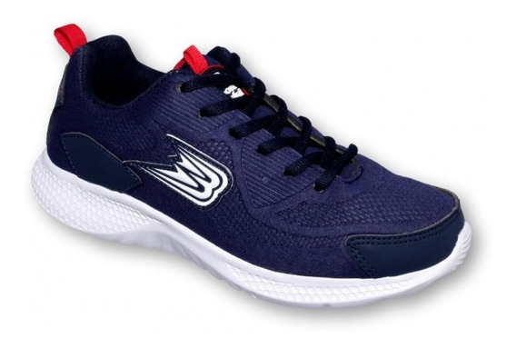 Tenis Para Correr Joven Marca Boost Textil Marino Rojo 6857