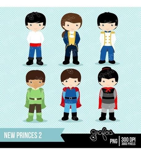 Kit Imprimible Principes Disney Imagenes Clipart Cod 3