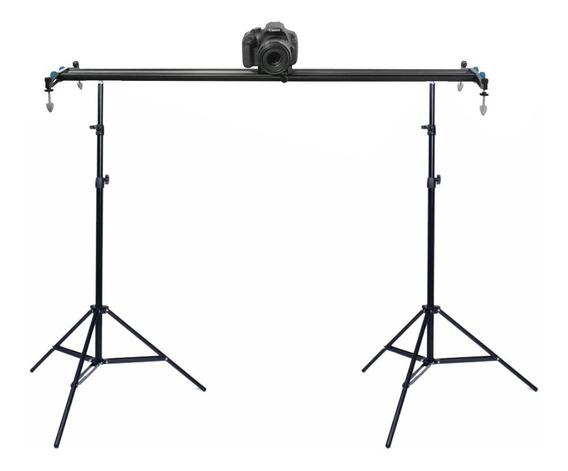 Slider Completo Para Filmagem Trilho+tripés+carrinho