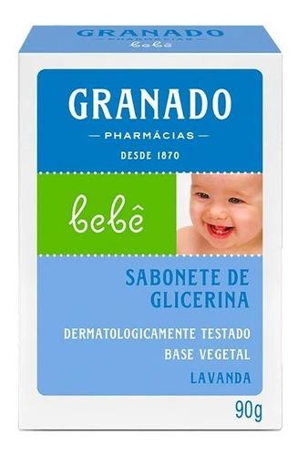 Sabonete Granado Bebê Lavanda 90g(kit/03 Un)