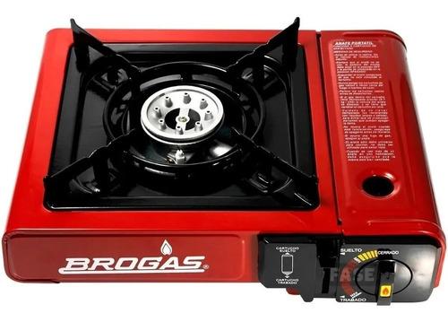 Anafe-brogas 1h C/enc/electrico Dual Valija+ 2 Cartuchos