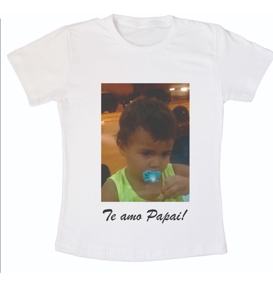 Camisa Infantil Personalizada Com Foto 15 Peças