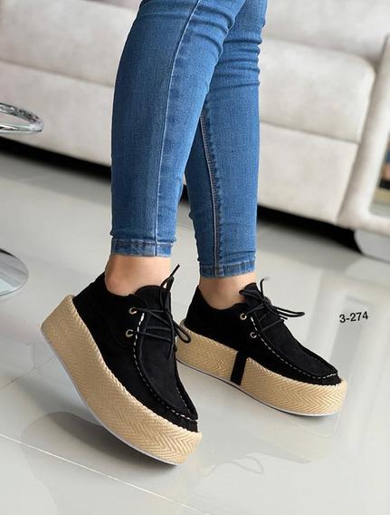 Zapatos Casuales De Moda Para Damas Suela Alta 2019