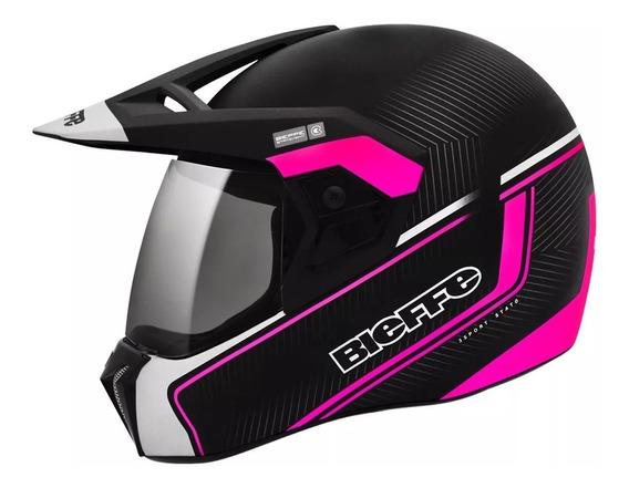 Capacete Moto Bieffe 3 Sport Stato Luva X11 Brinde