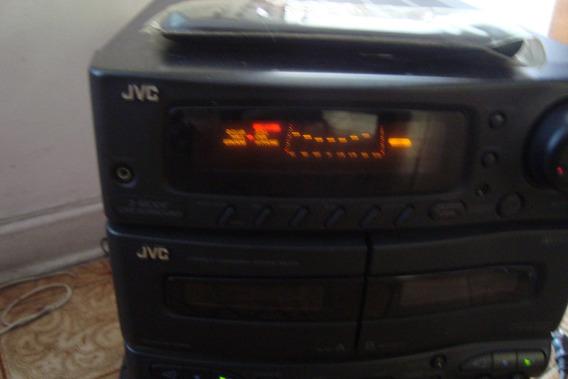 Mini Systen Jvc Tudo Funcionando, Controle E Manual Usuário.