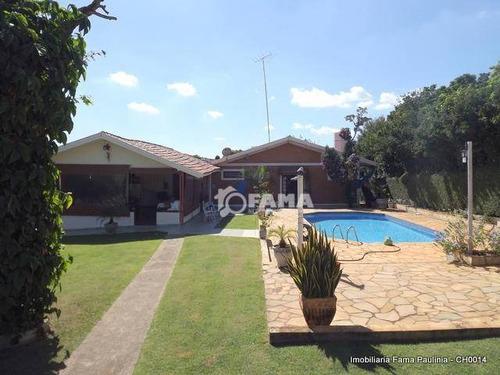 Chácara Com 3 Dormitórios À Venda, 1840 M² Por R$ 1.200.000,00 - Parque Da Represa - Paulínia/sp - Ch0014