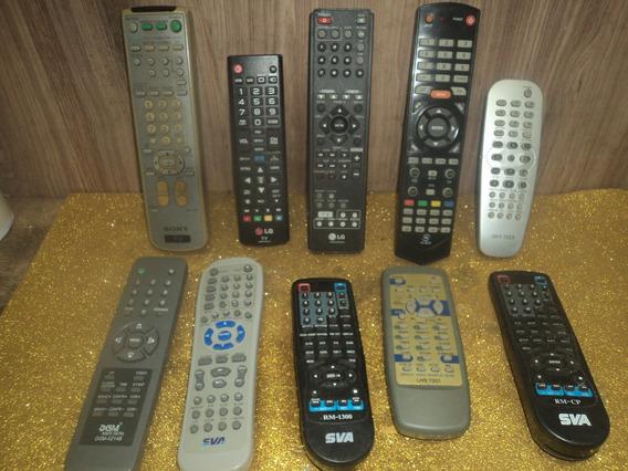 Lote C/ 10 Controles Tv /radio /sky/antigo Usado