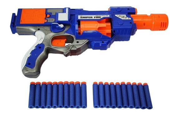 Pistola N Semi Auto 20 Dardos Estilo Nerf Mc18232